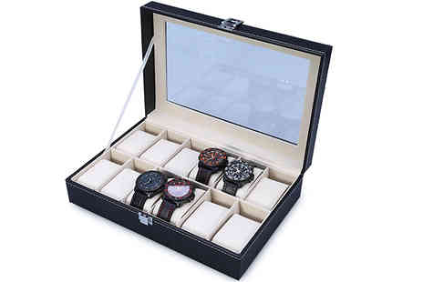 Shop Kitchen Home - Faux Leather Watch Display Box - Save 63%