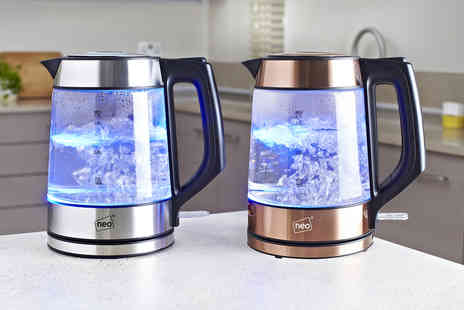 Home Empire - Neo cordless Nordic illuminated Led glass kettle - Save 69%