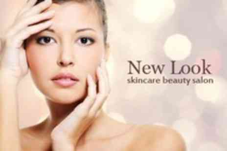 New Look Skincare Beauty Salon - Hot Stone or Standard Massage Plus Skin Brightening Facial - Save 77%