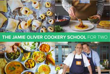 The Jamie Oliver Cookery School - Cookery Class for Two - Save 0%
