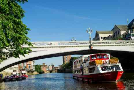Wildwood - City of York Sightseeing River Cruise and Three Course Meal with Wine for Two - Save 0%
