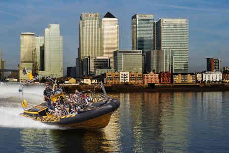 Thames RIB Experience - Child ticket for the 50 minute sightseeing Canary Wharf speedboat experience - Save 20%