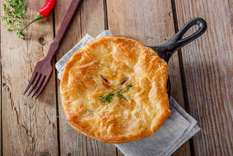 The Crown Inn - Pie, side of mash and veg for two with a glass of Prosecco each - Save 45%