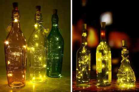 London Exchain Store - Two piece set of Led wine bottle decorative lights - Save 73%