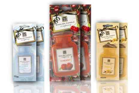 Groupon Goods Global GmbH - Three or Six English Candle Company Car Air Fresheners - Save 75%
