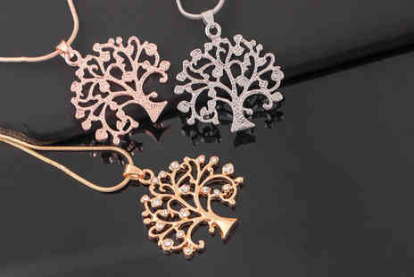 PinkPree - Tree of life pendant necklace - Save 80%