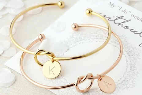 PinkPree - 26 letter knotted bracelet with colour options - Save 70%