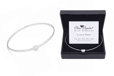 Your Ideal Gift - Wish bracelet plated with sterling silver with congratulations card - Save 88%
