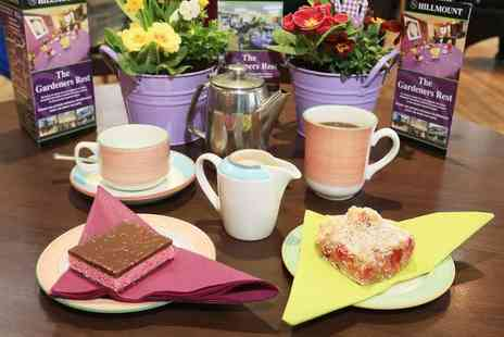 Hillmount Garden Centre - Tea or coffee for two people with a tray bake each - Save 72%