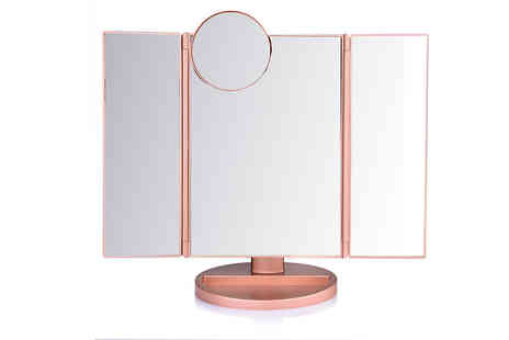 Bag A Bargain - Usb Led Touch Screen Magnifying Makeup Mirror Choose from 3 Colours - Save 78%