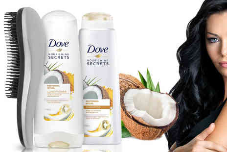 Avant Garde - Dove shampoo and conditioner with detangling brush - Save 55%