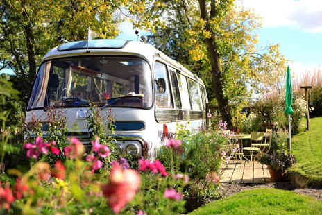 Majestic Bus - Two nights break for up to four people in a converted 1960s panoramic bus with fire wood, fresh flowers, cake and condiments - Save 37%