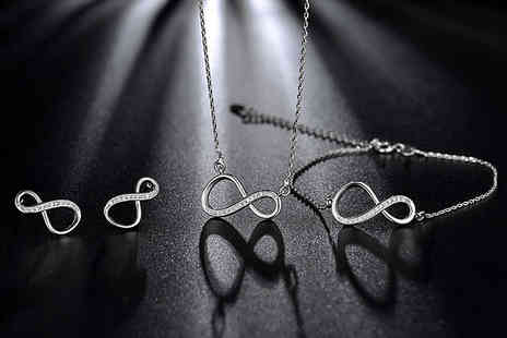 Gemnations - Infinity jewellery trio set - Save 85%