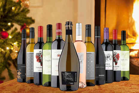 Naked Wines - 12 bottle Christmas wine hamper - Save 58%