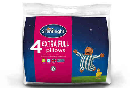 Chums - 4 Pack of Silentnight Extra Full Pillows - Save 50%