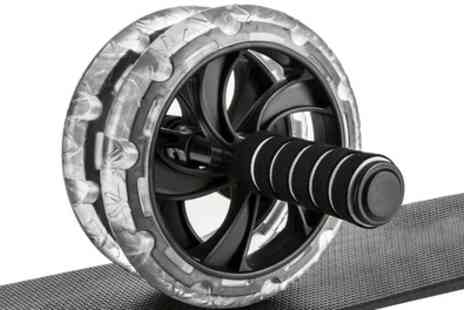 Groupon Goods Global GmbH - Vivo Abdominal Roller Exercise Wheel with Padded Mat - Save 60%