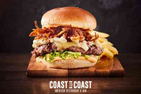 Coast to Coast - Two Course A La Carte American Dining for Two - Save 44%