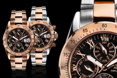 Rotatio - Rose gold Andre Belfort Le Capitaine watch choose from four designs - Save 88%