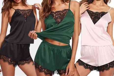 Groupon Goods Global GmbH - Womens Camisole and Shorts Sleepwear Set - Save 80%