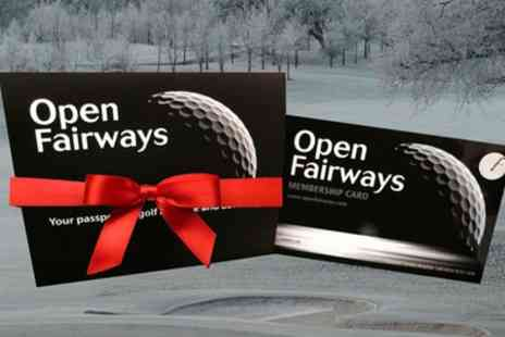 Open Fairways - 6 or 12 Month Golf Privilege Card Including Half Price Golf Green Fees - Save 0%