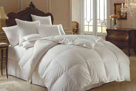 Groundlevel - Single 13.5 tog duck and down duvet - Save 67%