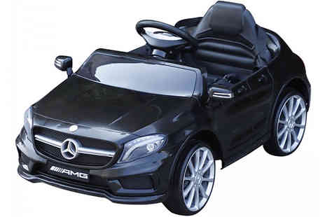 Mhstar - Ride On Electric Mercedes Benz Car Choose from Black or Red - Save 43%