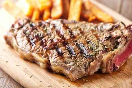 Revival Cafe Bar And Grill - Two Course Steak Meal with Glass of Wine Each for Two or Four - Save 61%