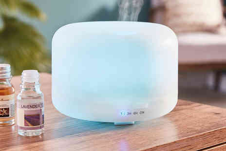 CJ Offers - 300ML aroma diffuser or aroma diffuser with 12 scented oils - Save 44%