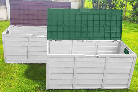 Groundlevel - Extra large weatherproof garden storage box choose from brown and green - Save 69%