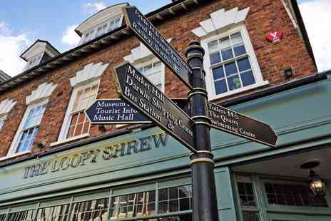 The Loopy Shrew - Central Shrewsbury stay with dinner - Save 41%