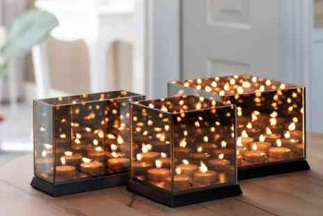 Groupon Goods Global GmbH - Candle Light Mirror Glass with 3D Effect - Save 25%