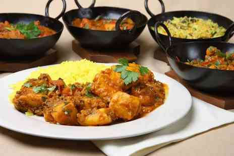 East Z East Blackburn - Two course meal for two people with rice and a glass of wine each - Save 56%