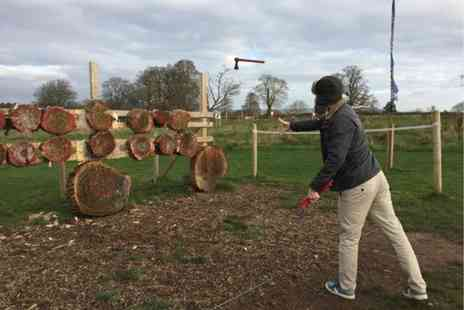 Devon Country Pursuits - One hour axe throwing session for one person - Save 60%