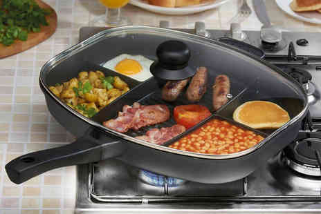 CJ Offers - Cooks Professional multi section frying pan - Save 70%