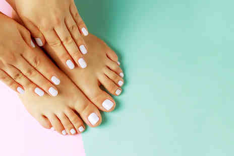 london ladies hair and beauty clinic - Warming Paraffin treatment with express manicure or pedicure - Save 64%