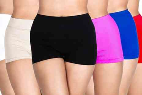 Groupon Goods Global GmbH - One, Three or Six Pairs of Womens High Waist Boxer Shorts - Save 58%