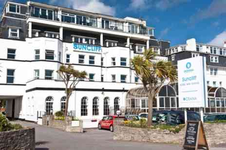 The Suncliff Hotel - 1 or 2 Nights Seafront Stay for Two with Breakfast, Dinner, Wine and Cake on Arrival - Save 35%