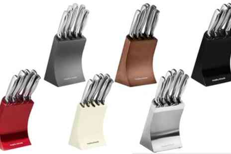 Groupon Goods Global GmbH - Morphy Richards Accents Five Piece Knife Block Set - Save 35%