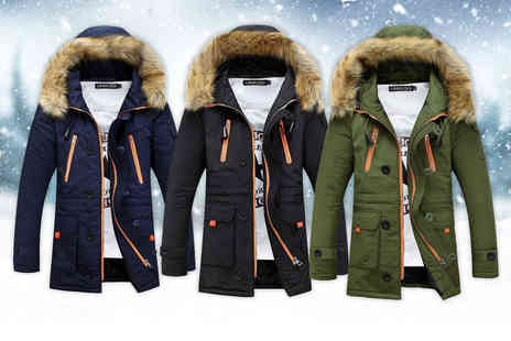 My Blu Fish - Mens winter coat - Save 70%