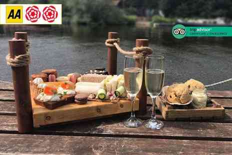 The Farndon Boathouse - Afternoon tea for two people, glass of Prosecco each - Save 40%