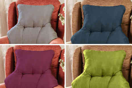 Chums - Faux suede back support cushion - Save 0%