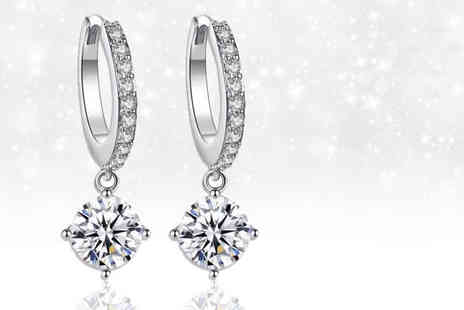 Gemnations - Pair of single drop earrings Made with Crystals from Swarovski - Save 87%