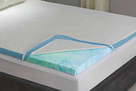 Groundlevel - Single one inch gel infused memory foam topper - Save 58%