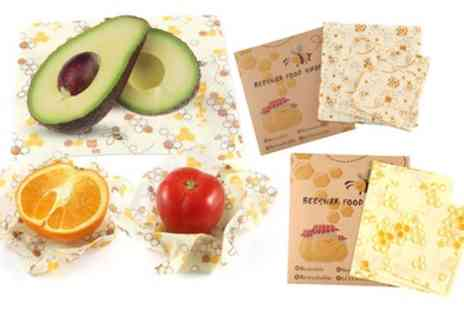 Groupon Goods Global GmbH - 3, 6, 12 or 18 Pack of Eco Friendly Reusable Beeswax Food Wraps in Choice of Design - Save 53%