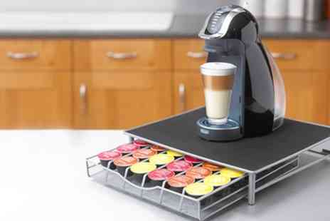 Groupon Goods Global GmbH - Neo Coffee Machine Stand with Pod Drawer for Dolce Gusto and Nespresso - Save 50%