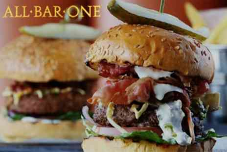 All Bar One - Choice of Main for Two with Sharing Nachos or Sharing Dessert - Save 50%
