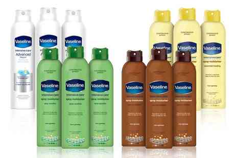 Avant Garde - Three pack 190ml Vaseline intensive care spray moisturisers - Save 58%