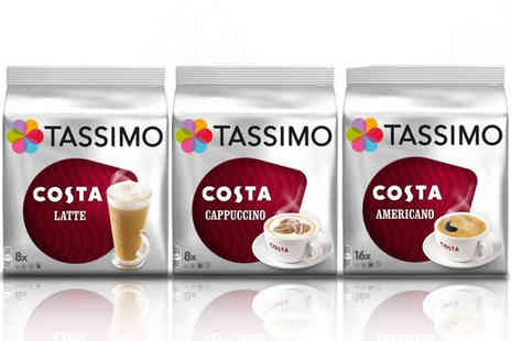 Euro Coffee Pods - Variety pack of 48 Tassimo Costa T Discs - Save 0%