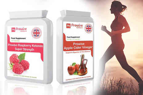 Prowise Healthcare - Raspberry ketone and apple cider vinegar supplement bundle - Save 71%