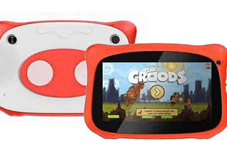 CN Direct Biz - Kids 7 Inch WiFi and Android IPig Tablet Choose from 4 Colours - Save 72%